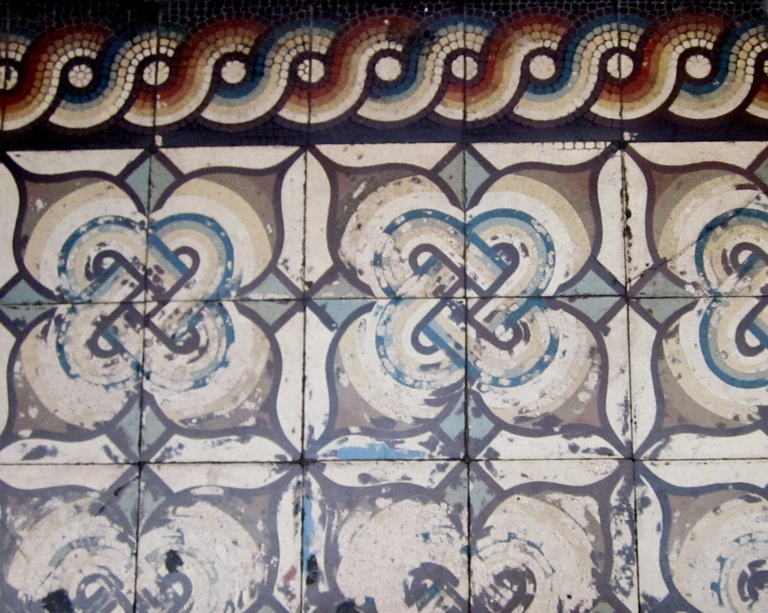 19th Century Floor Tiles at Passage des Panoramas, Paris