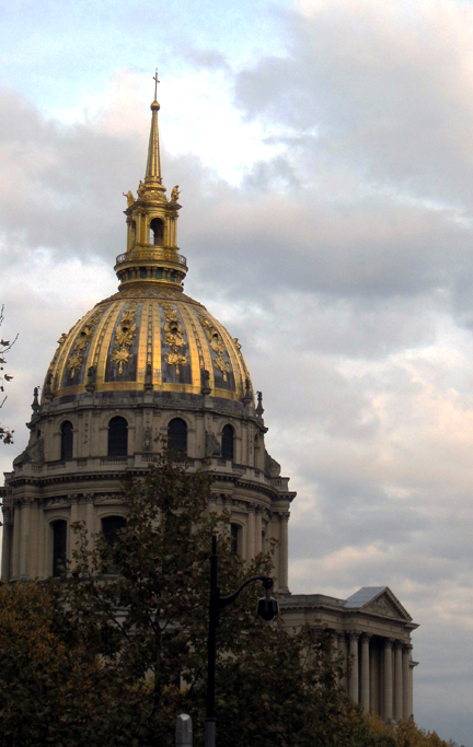 Les Invalides, Paris viewed from open-top bus.
