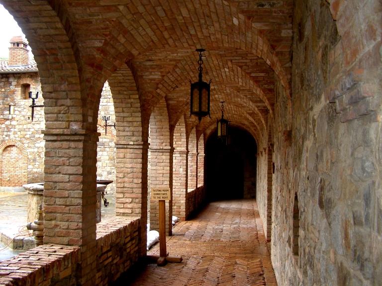 Cloister of the Castello di Amorosa in Calistoga, California | Dawn Devine • davinadevine.me