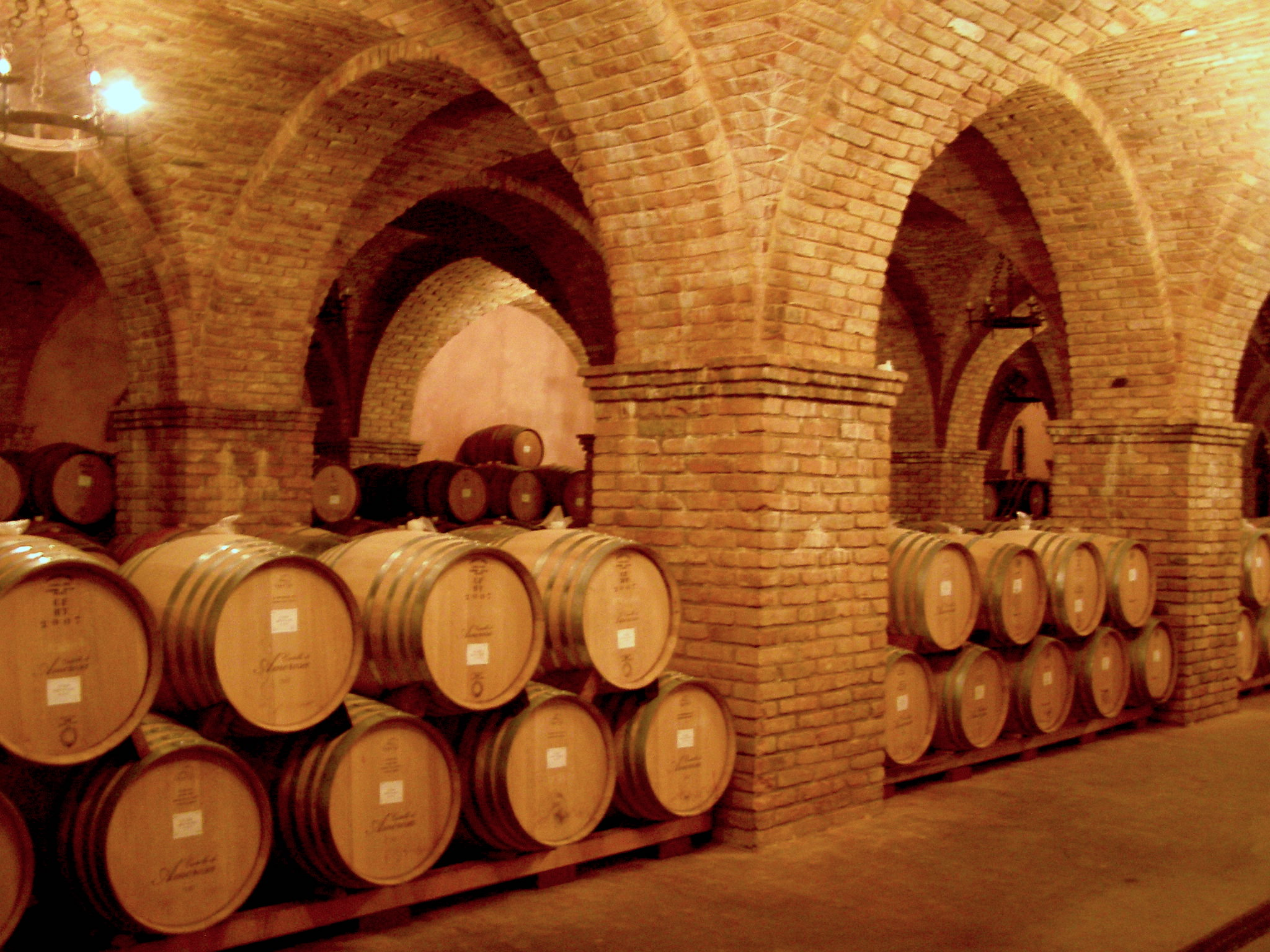 Wine Barrels at Castello di Amorosa | Dawn Devine • davinadevine.me